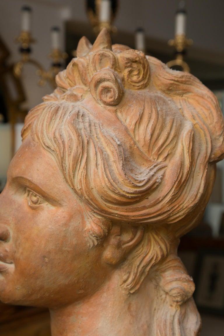 Terracotta Pair of Terra Cotta Italian Nobility For Sale