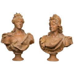 Pair of Terra Cotta Italian Nobility