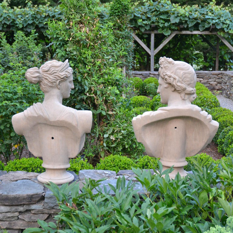 Pair of Terracotta Busts For Sale 3