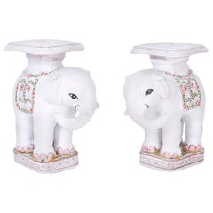 Pair of Terracotta Elephant Stands
