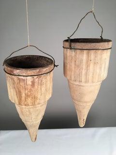 Pair Of Terracotta Hanging Vases, 19th Century