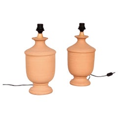 Pair of Terracotta Table Lamp