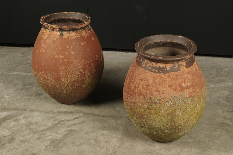 Pair of Terracotta Urns from France, circa 1970 In Good Condition For Sale In Nashville, TN