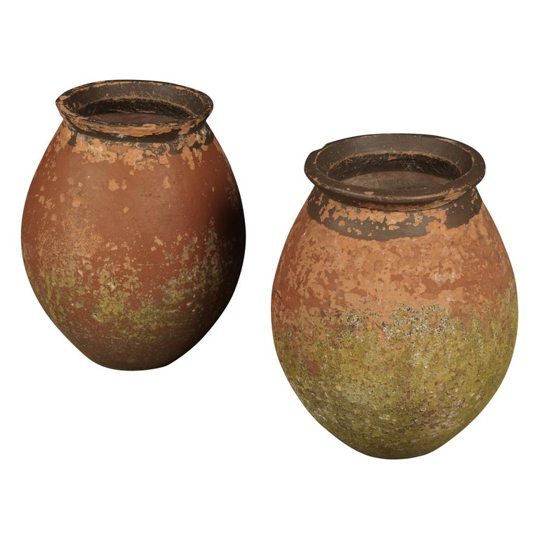 Pair of Terracotta Urns from France, circa 1970 For Sale