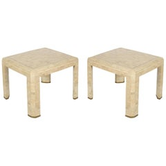 Pair of Tessellated Stone Side Tables