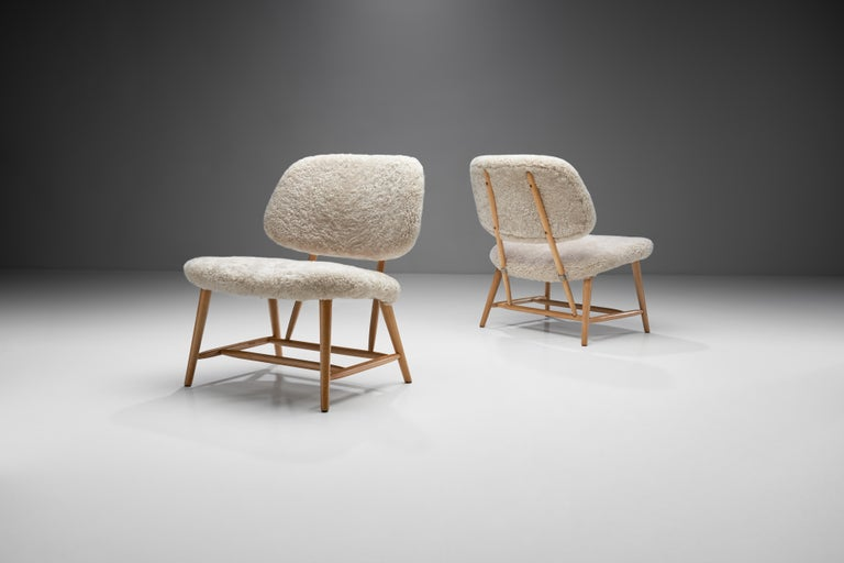 "This pair of ""TeVe Stolen"" or ""The TV chairs"" was designed in 1953, during the most active period of Swedish furniture designer Alf Svensson. This chair is a piece that is typically designed in the Scandinavian Modern style.
