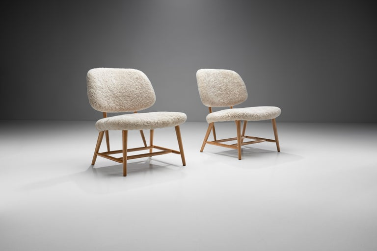 "Mid-Century Modern Pair of ""TeVe"" Chairs by Alf Svensson for Studio Ljungs Industrier AB, SWE For Sale"