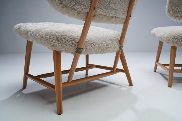 "Pair of ""TeVe"" Chairs by Alf Svensson for Studio Ljungs Industrier AB, SWE For Sale 1"