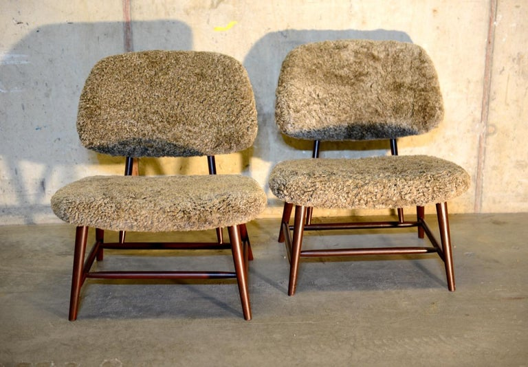 Pair of 'TeVe' Lounge Chairs by Alf Svensson, Ljungs Industrier Sweden 3