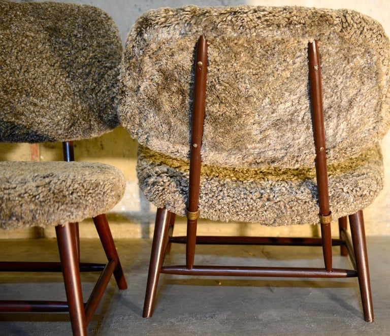 Swedish Pair of 'TeVe' Lounge Chairs by Alf Svensson, Ljungs Industrier Sweden For Sale