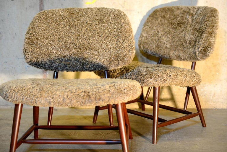 Pair of 'TeVe' Lounge Chairs by Alf Svensson, Ljungs Industrier Sweden In Good Condition For Sale In Limhamn, SE