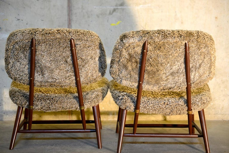 20th Century Pair of 'TeVe' Lounge Chairs by Alf Svensson, Ljungs Industrier Sweden For Sale