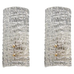 Pair of Textured Murano Sconces