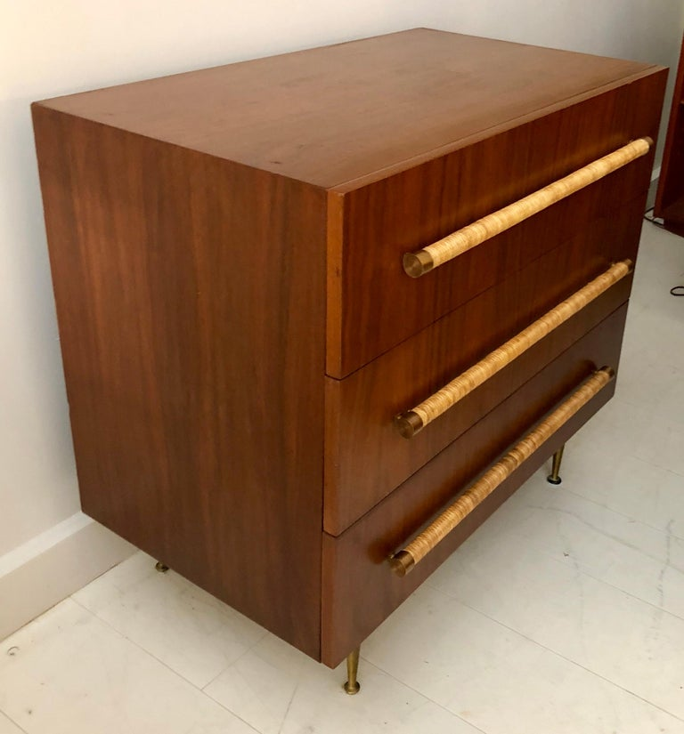 Mid-Century Modern Pair of T.H. Robsjohn-Gibbings for Widdicomb Chest of Drawers For Sale