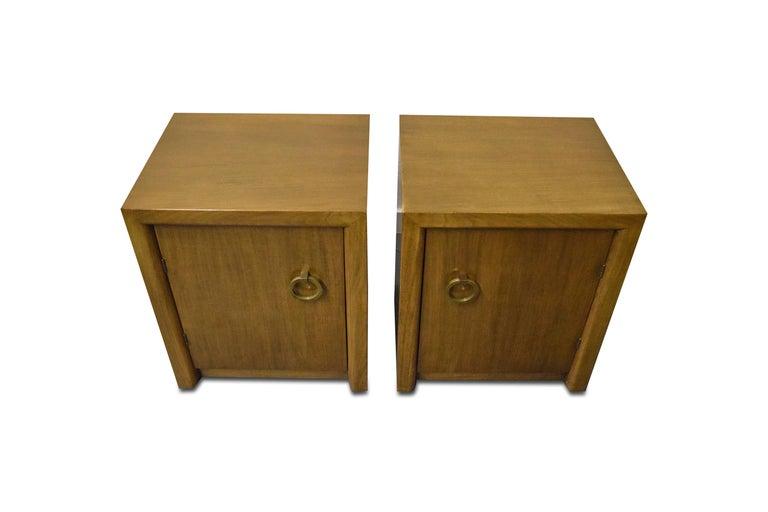 Mid-Century Modern Pair of T.H. Robsjohn-Gibbings for Widdicomb Nightstands For Sale