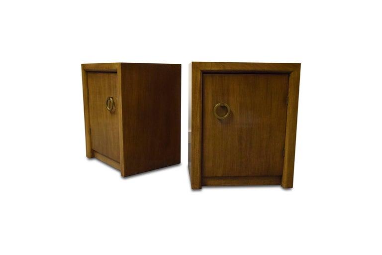 20th Century Pair of T.H. Robsjohn-Gibbings for Widdicomb Nightstands For Sale