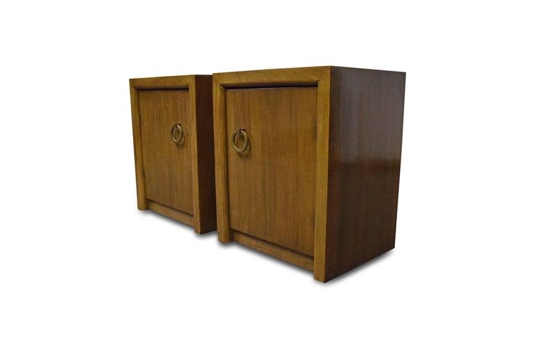 Pair of T.H. Robsjohn-Gibbings for Widdicomb Nightstands For Sale 1