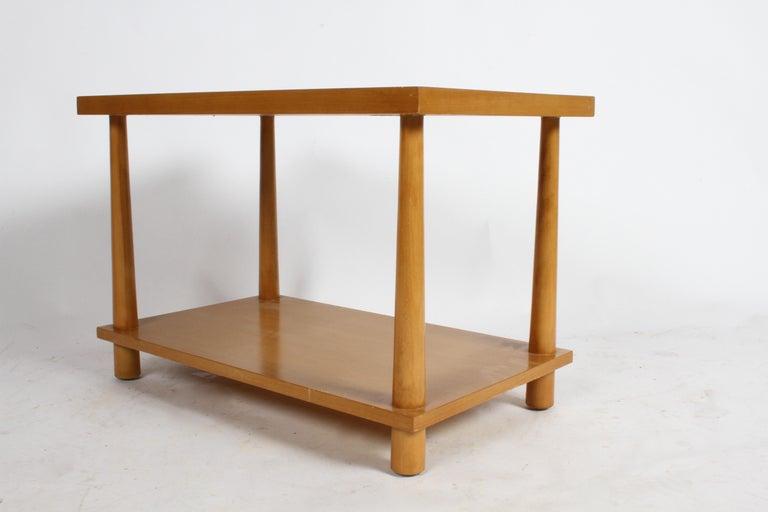Pair of T.H. Robsjohn-Gibbings for Widdicomb Reverse Tapered Legs End Tables 3