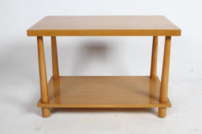 Pair of T.H. Robsjohn-Gibbings for Widdicomb Reverse Tapered Legs End Tables 2