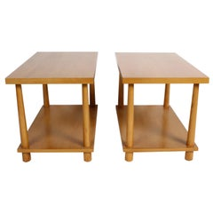 Pair of T.H. Robsjohn-Gibbings for Widdicomb Reverse Tapered Legs End Tables
