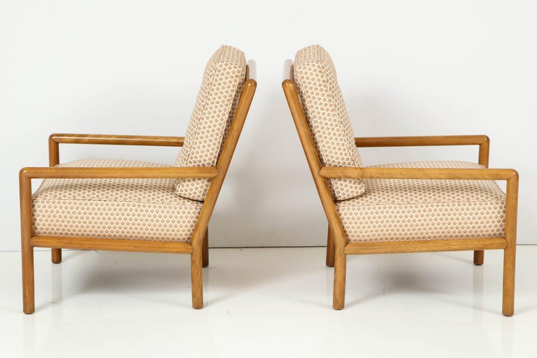 Mid-Century Modern Pair of T.H. Robsjohn-Gibbings Lounge Chairs, circa 1950s For Sale