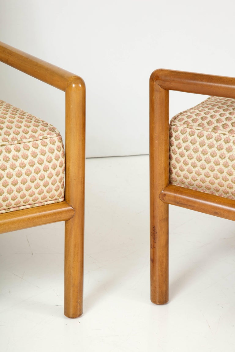 American Pair of T.H. Robsjohn-Gibbings Lounge Chairs, circa 1950s For Sale