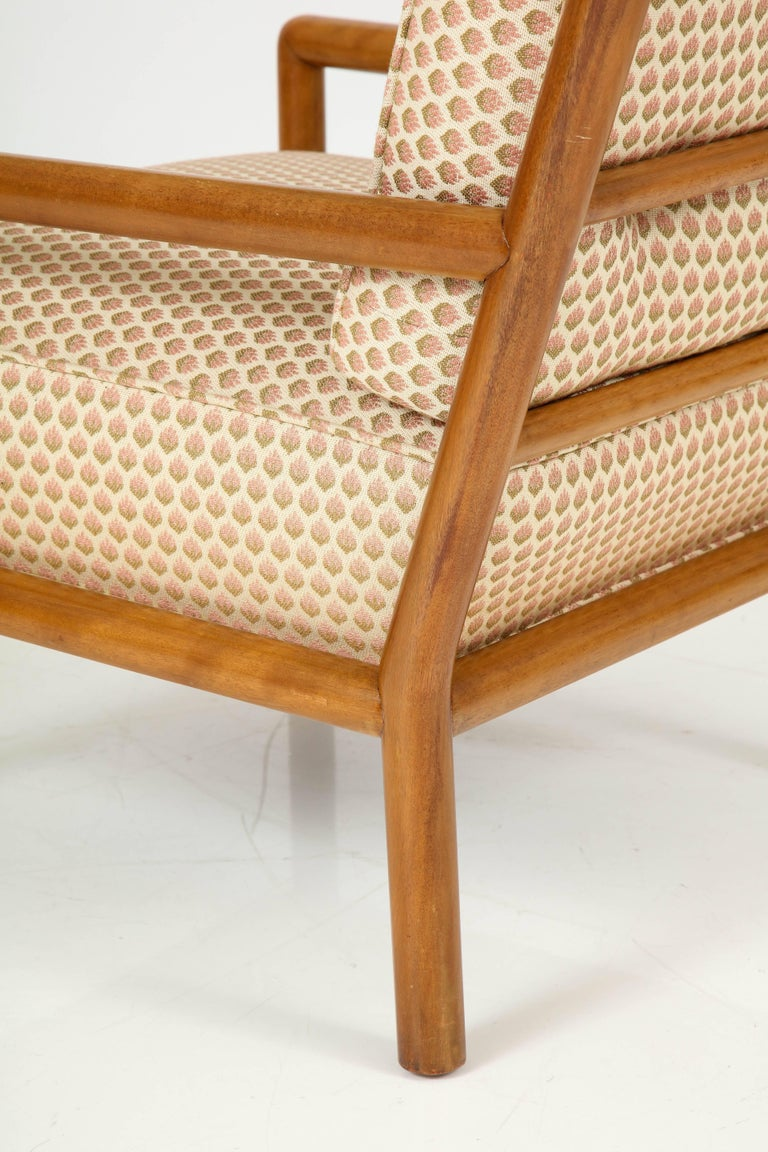 Pair of T.H. Robsjohn-Gibbings Lounge Chairs, circa 1950s In Excellent Condition For Sale In New York, NY