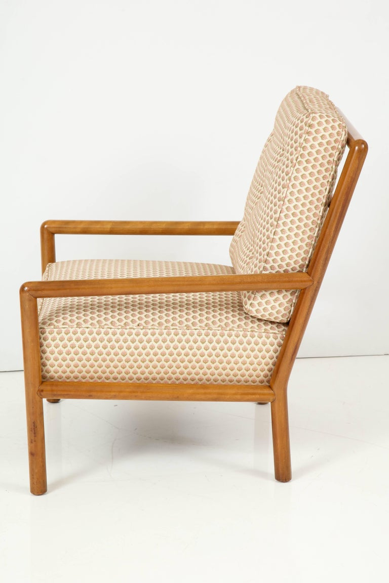 Upholstery Pair of T.H. Robsjohn-Gibbings Lounge Chairs, circa 1950s For Sale