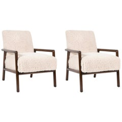 Pair of T.H Robsjohn-Gibbings Lounge Chairs