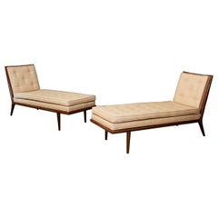Pair of T.H. Robsjohn-Gibbings Midcentury Chaise lounge for Widdicomb, 1950s
