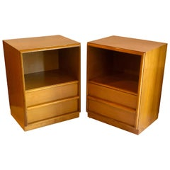 Pair of T.H. Robsjohn-Gibbings Nightstands for Widdicomb Midcentury