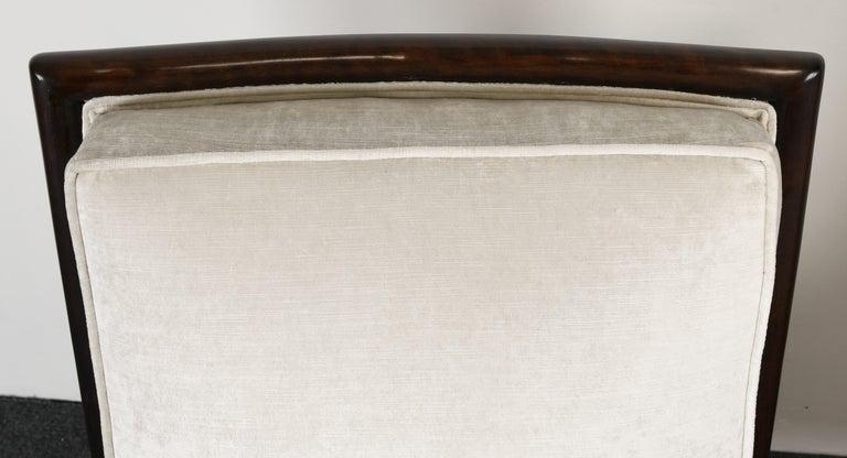 Pair of T.H. Robsjohn Gibbings Slipper Chairs, 1950s For Sale 3