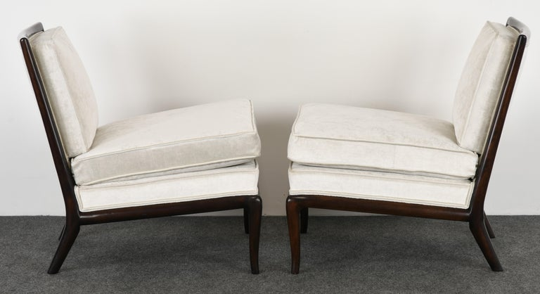 Pair of T.H. Robsjohn Gibbings Slipper Chairs, 1950s In Excellent Condition For Sale In Hamburg, PA