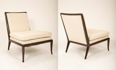Pair of T.H. Robsjohn Gibbings Slipper Chairs