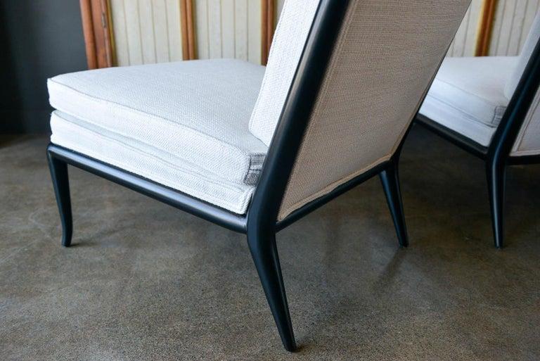 Pair of T.H. Robsjohn-Gibbings Slipper Chairs, Model WMB, 1955 For Sale 3