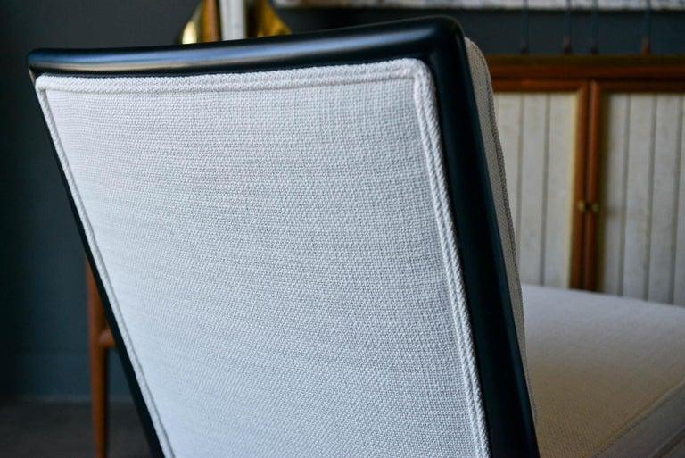 Pair of T.H. Robsjohn-Gibbings Slipper Chairs, Model WMB, 1955 For Sale 4