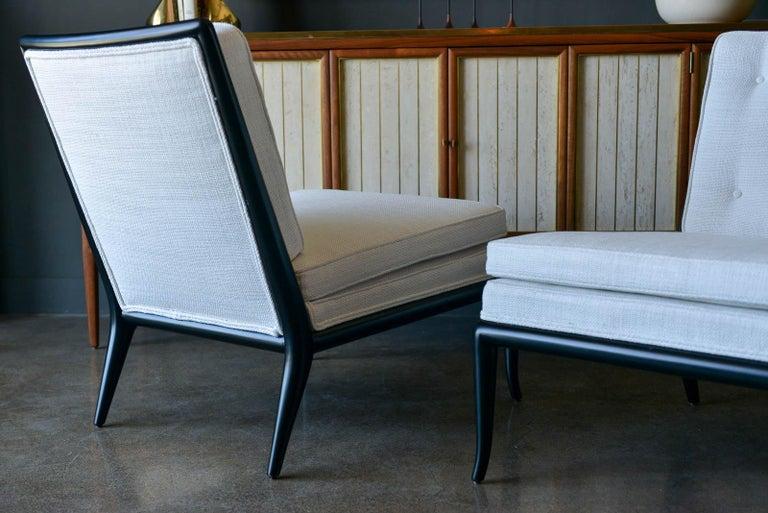 Pair of T.H. Robsjohn-Gibbings Slipper Chairs, Model WMB, 1955 For Sale 1
