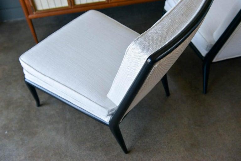 Pair of T.H. Robsjohn-Gibbings Slipper Chairs, Model WMB, 1955 For Sale 2