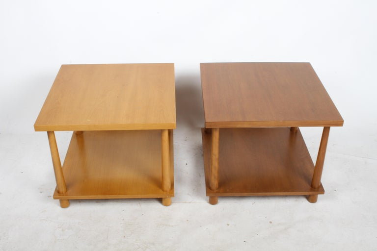 American Pair of T.H. Robsjohns-Gibbings for Widdicomb Reverse Taper End Tables For Sale