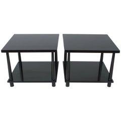 Pair of T.H. Robsjohns-Gibbings for Widdicomb Reverse Taper End Tables