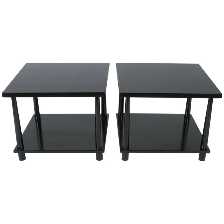 Pair of T.H. Robsjohns-Gibbings for Widdicomb Reverse Taper End Tables For Sale