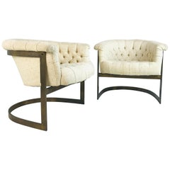 Pair of Thayer Coggin Bronze Chairs