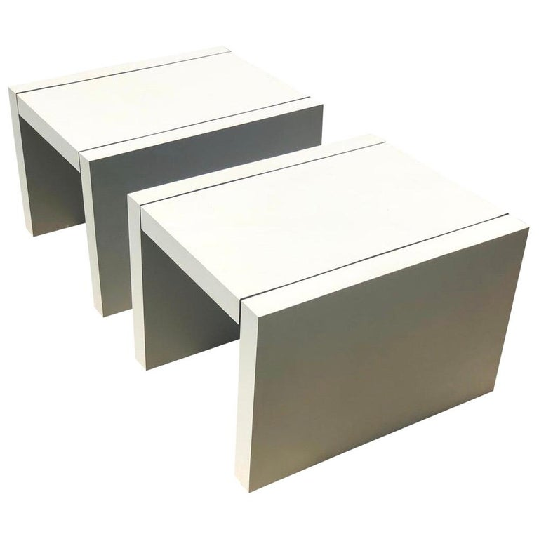 Pair of Thayer Coggin Tables Parsons Side Table End Table For Sale