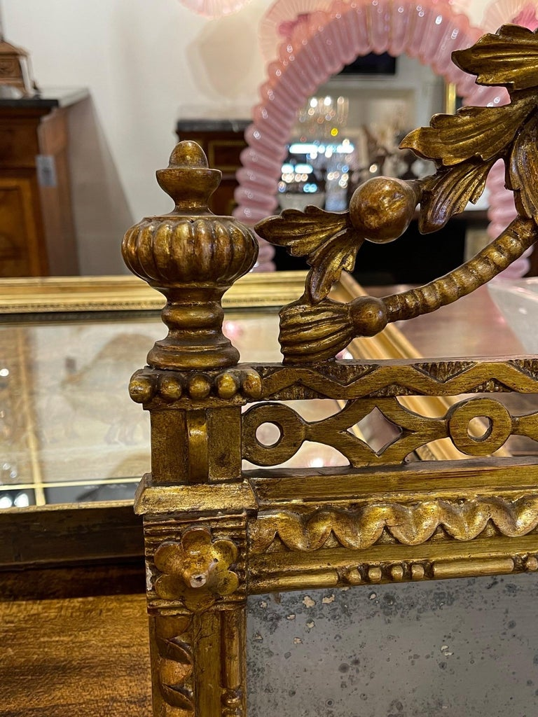 Pair of the 19th Century Giltwood Mirrors For Sale 1