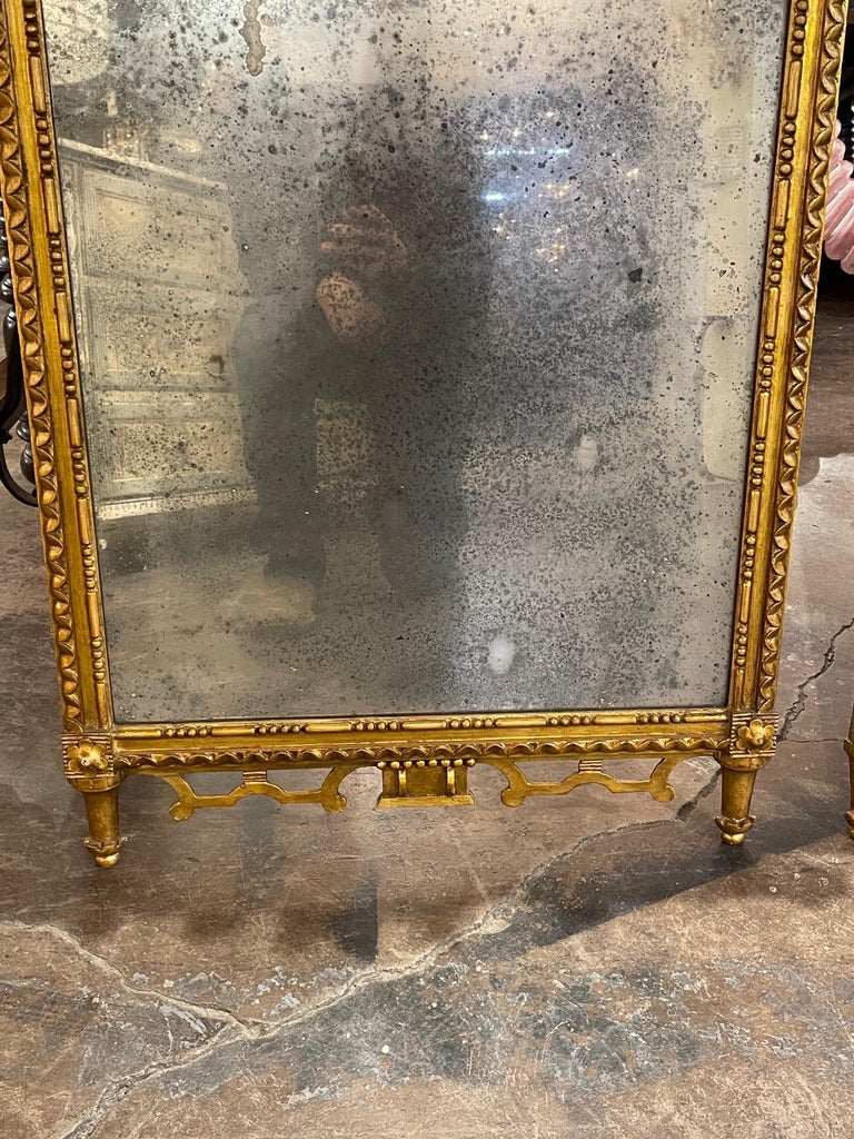 Pair of the 19th Century Giltwood Mirrors For Sale 3