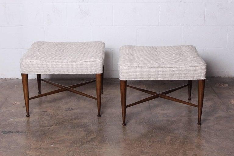 A pair of mahogany