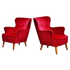 Pair of Theo Ruth Lounge Chairs Artifort, 1955