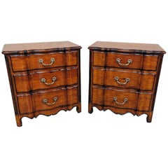Pair of Theodore Alexander Chateau Du Vallois Commodes Nightstands