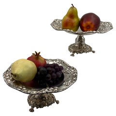 Pair of Theodore Starr Sterling Silver Centerpiece Compotes Tazzas