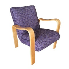 Thonet Bentwood Armchair with Purple Seat